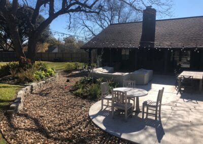 CREEKBED WITH PATIO