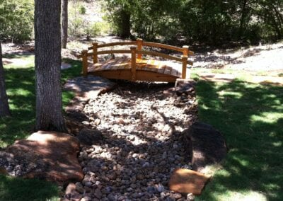 Dry Creek Bed with Foot Bridge