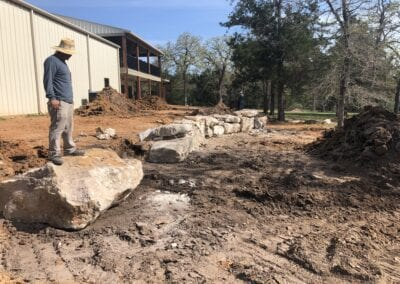 NATURAL STONE RETAINING WALL_IN PROGRESS