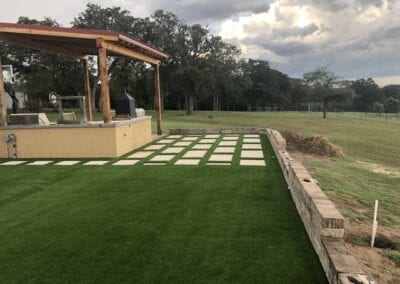 Turf Project in progress Wesley TX